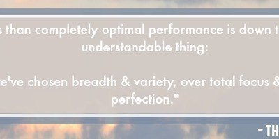 Embracing My Less Than Optimal Performance