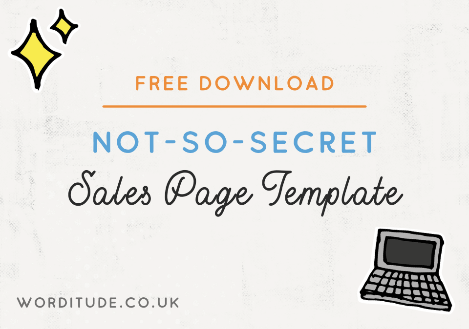 My Not-So-Secret Sales Page Template For Small Businesses