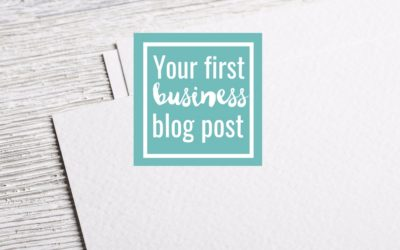 Your First Blog Post | Content ideas and how to write it