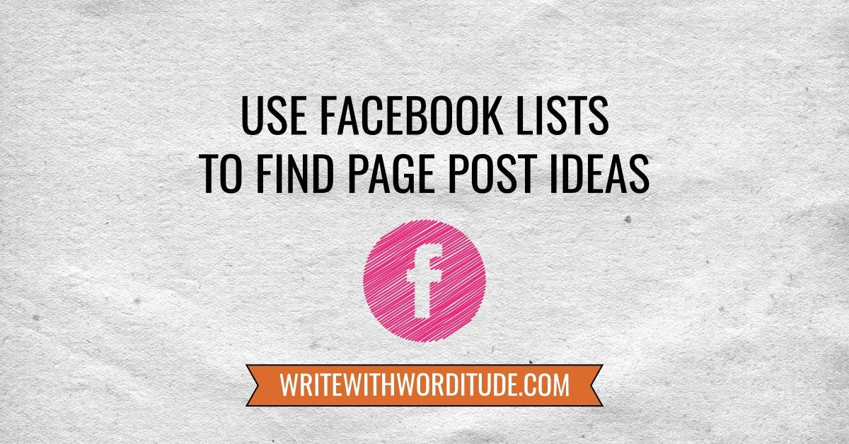 Facebook page post ideas