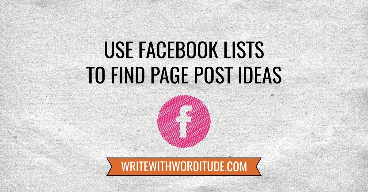 Facebook page post ideas