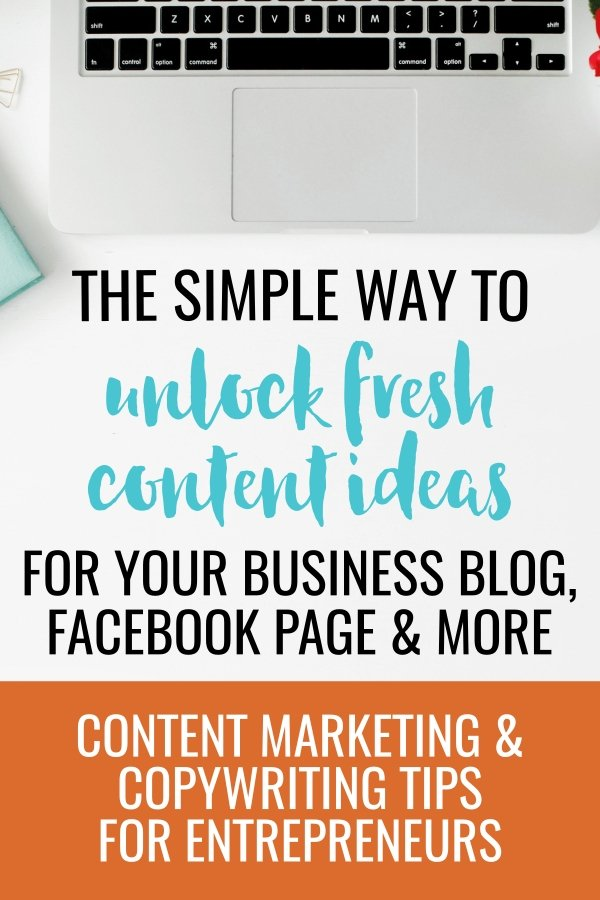 Stuck for ideas for your business blog, or Facebook page? Not sure what to post to get your audience's attention and drive traffic to your website? I'm pretty sure it's your own fault. Stop sabotaging your own creativity and unlock a steady stream of content ideas so you never have to wonder what to write on your blog or Facebook page again. Content marketing article with tips for small business owners and entrepreneurs.
