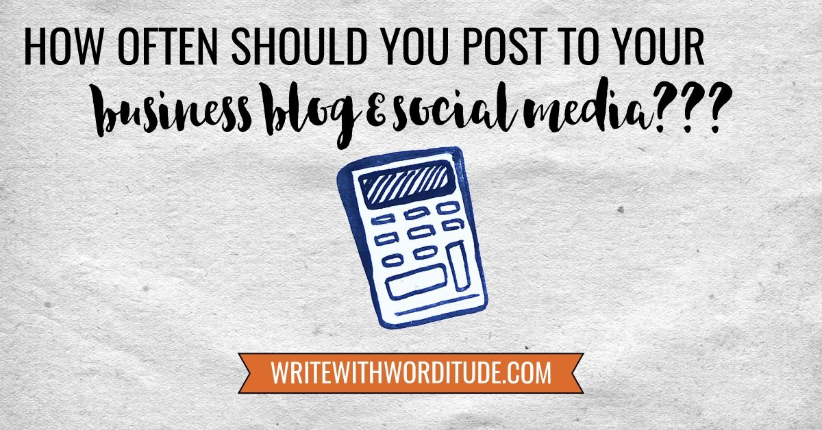 How often post to business blog