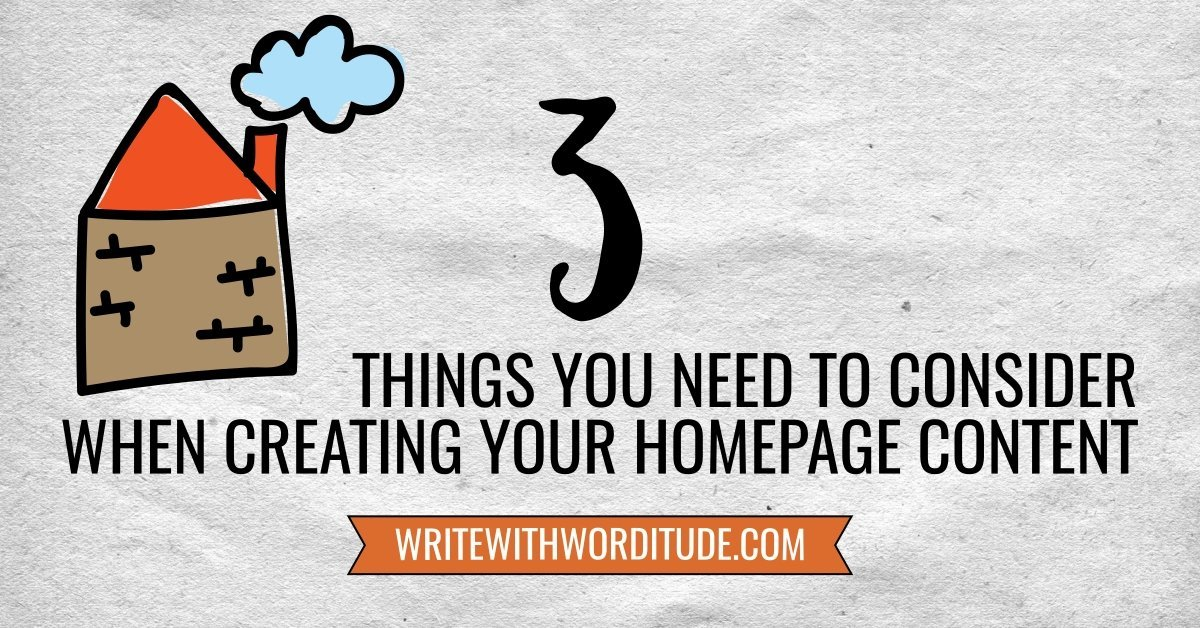 What to put on your website homepage