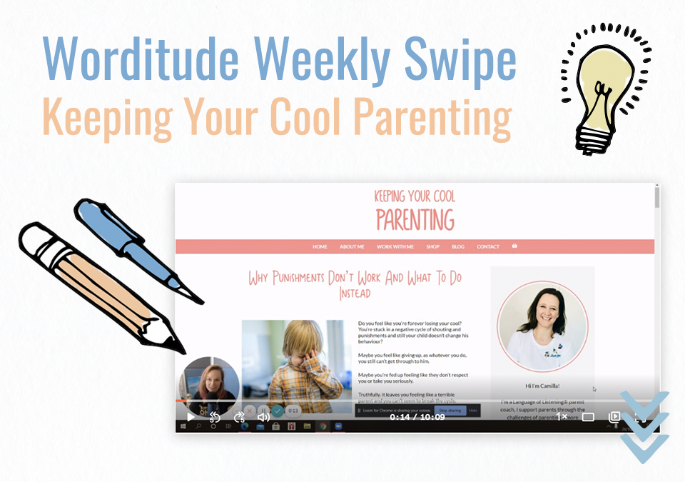 Weekly Swipe – Blog Post: Keeping Your Cool Parenting