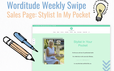 Weekly Swipe – Sales Page: Stylist In My Pocket
