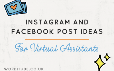 Instagram and Facebook post ideas for Virtual Assistants
