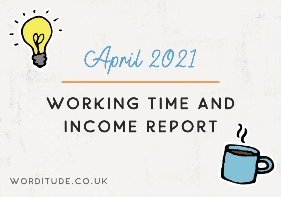 April 2021 Working Time And Income Report
