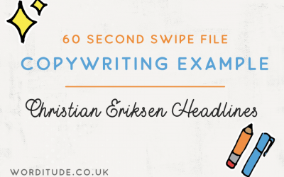 Copywriting Example: Christian Eriksen Headlines