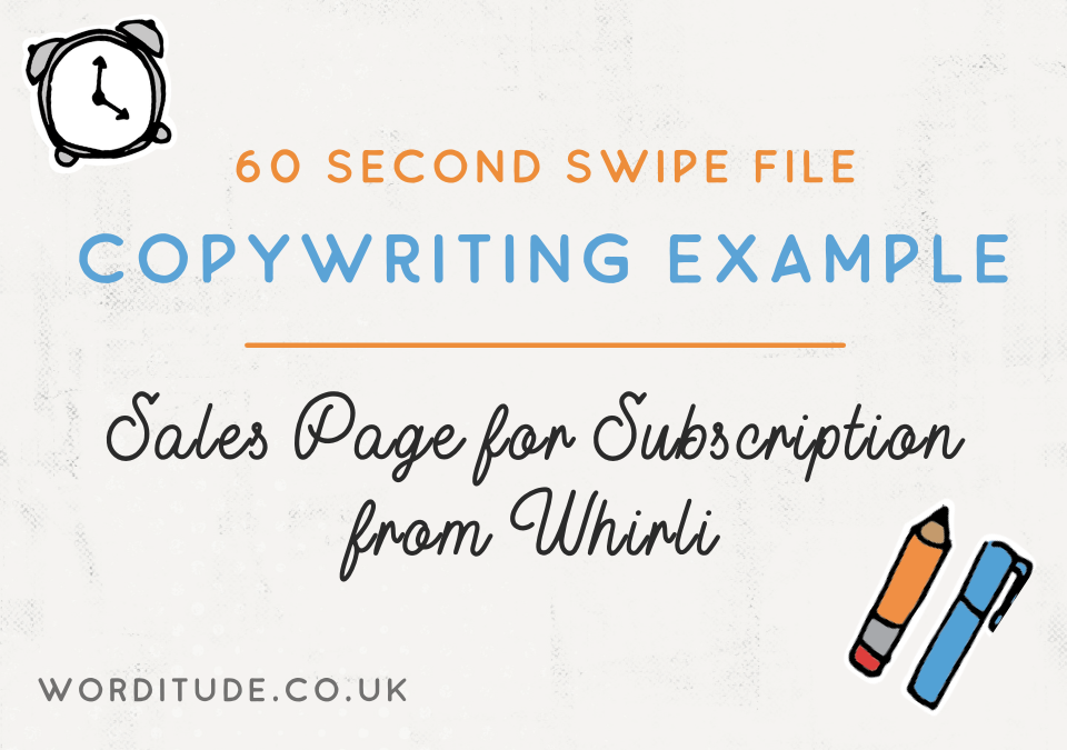 Copywriting Example: Sales Page for Subscription from Whirli