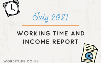 July 2021 Working Time And Income Report
