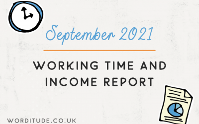 September 2021 Working Time And Income Report